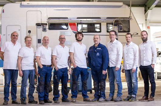 Wohnwagen-Service-Team